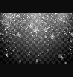 christmas snow snowfall falling snowflakes on vector image