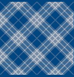 Classic blue and white tartan plaid seamless vector