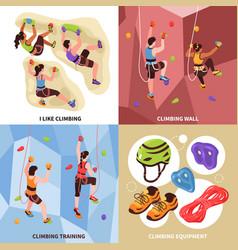 climbing gym design concept vector image