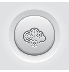 Cloud Processing Icon vector