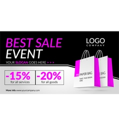 Corporate banner for Best sale event vector image