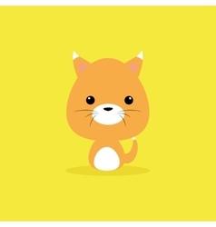 Cute cartoon wild cat vector