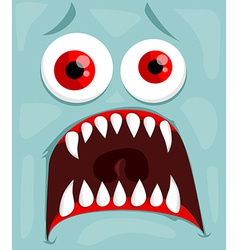 Cute monster face vector image