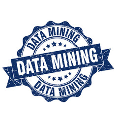 Data mining stamp sign seal vector