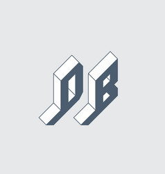 Db - 2-letter code d and b - monogram or logotype vector