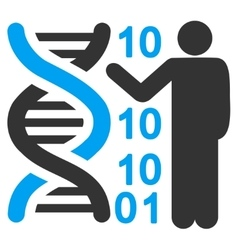 Dna Code Report Icon vector image