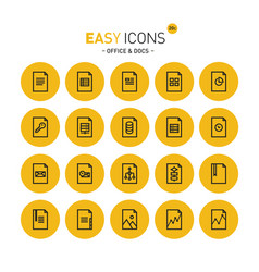 Easy icons 20c files vector