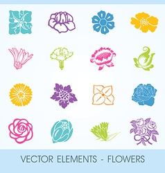 elements - flowers vector image