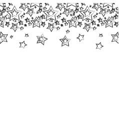 Figure stars christmas decoration backgroud vector