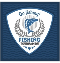 Fishing emblem badge and design elements vector