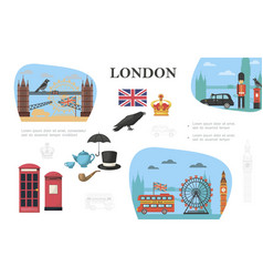 flat london concept vector image