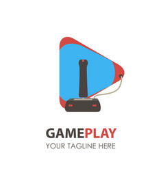 Game logo pad icon gamer gaming video controller vector