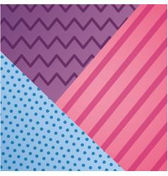 geometric line dots zig zag decoration pattern vector image