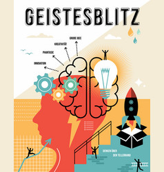 german brainstorm outline business concept vector image