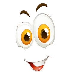 Happy facial expression on white vector
