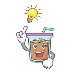 Have an idea bubble tea mascot cartoon vector