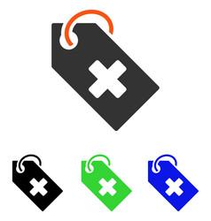 Hospital tag flat icon vector