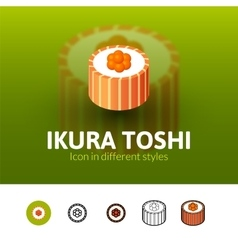 Ikura toshi icon in different style vector image