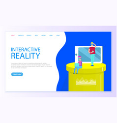 interactive reality users of new technologies vector image