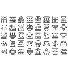 Irrigation system icons set outline vector