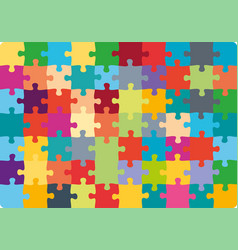 jigsaw puzzle 10x7 square colorful piece template vector image