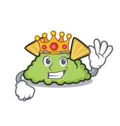 King guacamole mascot cartoon style vector