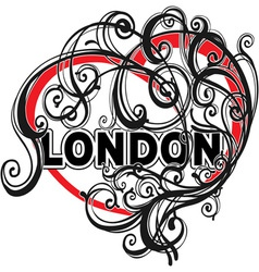 London doodle heart shape vector