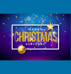 merry christmas on shiny bright vector image