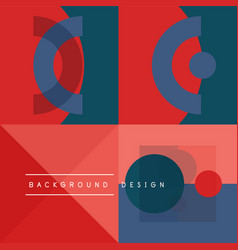 neo memphis geometric pattern with circles vector image