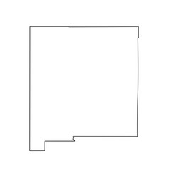 New mexico nm state border usa map outline vector