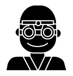 Oculist - ophthalmologist - eye doctor icon vector