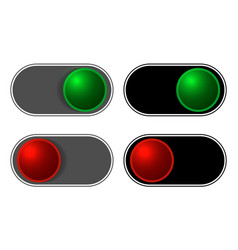 On-off sliding buttons set vector