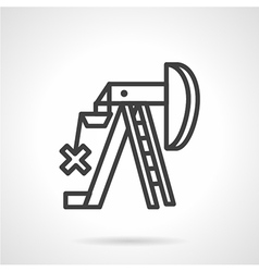 Petroleum extraction line icon vector image