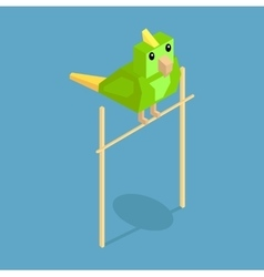Pets Parrot Icon Isometric 3d Design vector