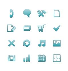 Pixel icons set for navigation vector