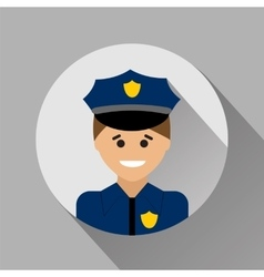 Policeman flat style icon vector