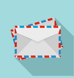 post envelope icon flat style vector image