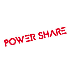 Power share rubber stamp vector