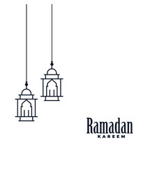 Ramadan kareem lamp background vector