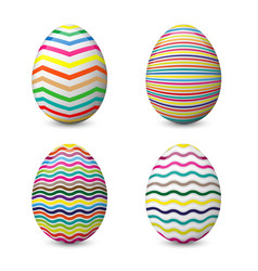 Realistic set with easter eggs isolated on vector