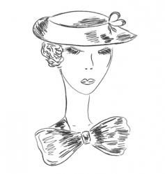 retro woman sketch vector image