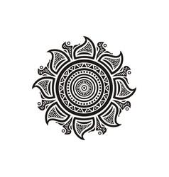 round decorative element vector image