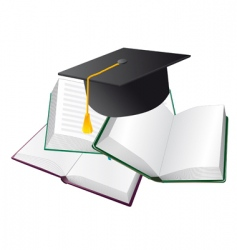 set of books and hats vector image