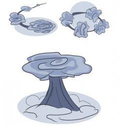 Set of smoke effects vector