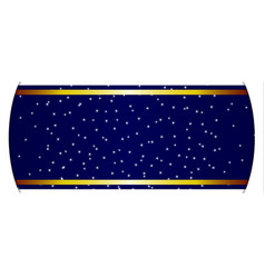 Stary night banner vector