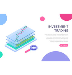 stock exchange mobile application concept for web vector image