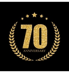 Template Logo 70 Years Anniversary vector image