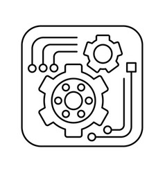 Tools icon in outline style for web or app design vector