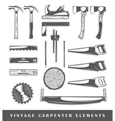 Vintage carpenter elements vector