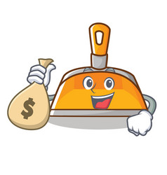with money bag dustpan character cartoon style vector image